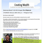 Creating Wealth – Smart Personal Finance Habits for OFW's