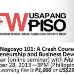 Negosyo 101 for OFW's: A Crash Course on Entrepreneurship and Business Development