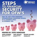 Steps To Financial Security for OFW's (Al Khobar, KSA)