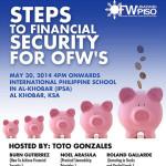Steps To Financial Security for OFW's (Al Khobar, KSA)