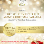 Join The Truly Rich Club Christmas Ball 2014!