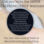 Enter Entrepreneurship Webinar Recordings Now Available!