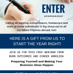 How To Prepare Yourself and Make Your Business Ideas Happen (a FREE Webinar)